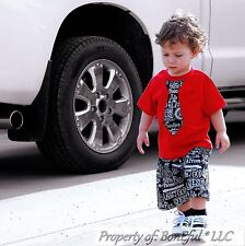 BonEful RTS NEW Boutique Baby 12 18 Month Boy Red Name Christian Shorts Tie Top
