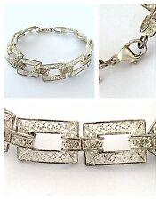 Schönes Armband 925er Silber Silberarmband filigranes Muster Silberschmuck