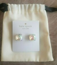 BRAND NEW KATE SPADE CRYSTAL AB SILVER SQUARE STUD EARRINGS