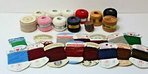 Estate Sale Lot Vintage Wool Mending Yarn And Darning Cotton - Different Colors