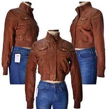 TopShop Women's No Pattern Casual Biker Coats & Jackets
