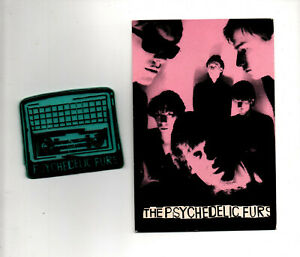 PSYCHEDELIC FURS ~ Orig UK 1979/80 badge and postcard. NM.
