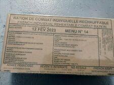 #2022# Menu 14 , French MRE IRP Military Food RCIR 24H MENU Combat Box US France