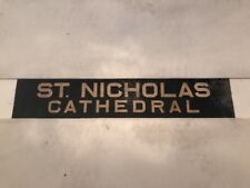 """Newcastle 1960's Linen Bus Blind 34""""- St Nicholas Cathedral"""