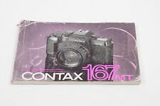 CONTAX 167 MD Quartz Instructions - Four Languages -