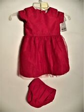 Carter'S Baby Girl's Hot Red Dress with Panties- Sz 18 Months-Nwt $38