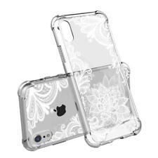 """iPhone XS & X Case 5.8"""" Shockproof Slim Unique White Floral Paisley Design"""
