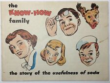 Vintage Know-How Family: Story of Soda Mini-Comic Promo 1952 Arm & Hammer