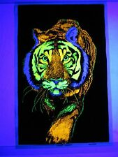 Vintage Psychedelic Blacklight Poster TIGER TIGER By Leon Hendrix 1972 AA Sales