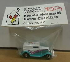 Hot Wheels Baggie McDonalds House Charity 32 Ford Delivery 1996 Turquoise BW