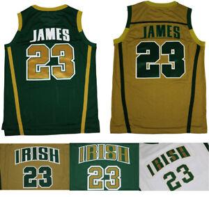 Throwback LeBron James #23 St Mary Irish High School Basketball Jerseys Stitched