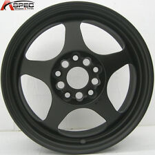 16X7 ROTA SLIPSTREAM WHEELS 5X114.3 FLAT BLACK RIMS ET40MM FITS CIVIC 2006-2012