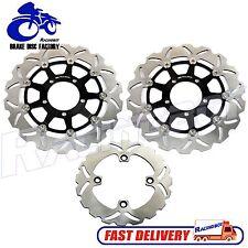 Full Set F&R Brake Disc Rotor Kawasaki ZX6R ZX636 2005 2006 ZX6RR ZX600 ZX10R
