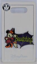 Disney Halloween 2018 Witch Minnie Mouse With Broom Bewitching Pin NEW CUTE