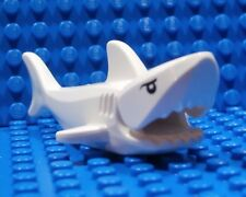 LEGO WHITE SHARK ~ Minifigure Ocean Sea Fish Animal Black Eyes Pupils Gills NEW