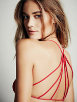 NEW Free People Intimately Seamless Strappy Back Bra in Red Sz XS/S-M/L $26.49