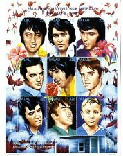 Elvis Presley 60 th Birthday 8 january 1995 Palau sellos stamps music
