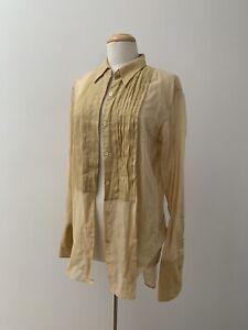 Dries Van Noten Silk Blend Beige Dress Shirt 40 M