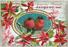 Decoupage-Bastelpapier-Softpapier-Vintage-Shabby-Weihnachten-Vögel-12547