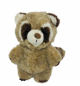 """Vintage 1982 Dakin Raccoon Plush Stuffed Toy Animal Brown Tan Rare 9"""""""