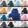 LUXURY 100% COMBED COTTON 6 PIECE TOWEL BALE SET FACE HAND BATH TOWELS