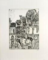 Pit Morell: Meine Liebe zur Erde. [1967]. Signierte Original-Radierung.
