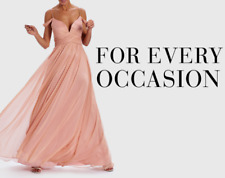 NEW Forever Unique Pink Maxi Long Full Floor Length Prom Grecian Dress Gown 12
