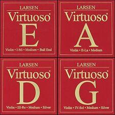 Larsen Virtuoso Violin String Set (E-Ball A D G) Medium Tension 4/4 Full Size