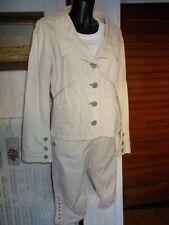 Tailleur pantacourt et veste blazer coton beige RIVIERES DE LUNE 42/44