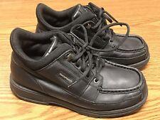 Vintage Rockport Xcs 14342Jm Boys Black Leather Hiking Trail Boots Sz 4.5 Rare