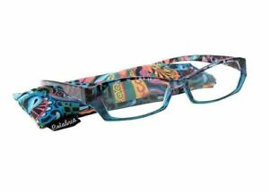 Calabria 748 Reading Glasses w/Matching Case 12 Colors and Powers to Choose From