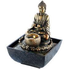 Zimmerspringbrunnen: Beleuchteter Zimmerbrunnen mit Buddha