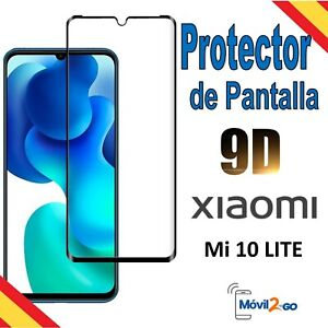 Protector de Pantalla Cristal Templado 9D para Xiaomi Mi 10 Lite 5G Marco Negro