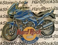 2002 HARD ROCK CAFE MEMPHIS BLUE MOTORCYCLE LE PIN