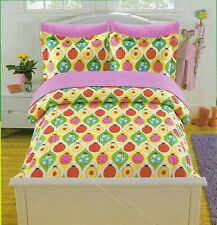 7-PC Full PBS Kids Ladybug Comforter Bedding Set Sheets Youth Girls Bed in A Bag