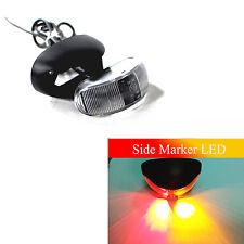 1Pcs 12V 24V Red + Amber Side LED Marker Clearance Truck Bus Boat Signal Light