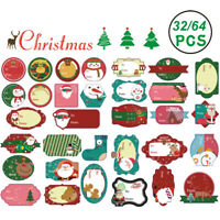Craft Biscuit Seal Label Gift Paper Sticker Package Label Merry Christmas