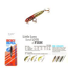 Rebel Lures Hellgrammite Ultralight Crankbait Fishing Lure, 1 3/4 Inch, 3/32 ...