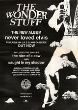 1/6/91 Pgn11 Advert: The Wonder Stuff  Album never Loved Elvis 15x11 framed