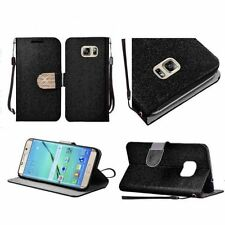 Custodie portafogli nero per Samsung Galaxy S7 edge