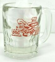 "1950's Dog N Suds Advertising 3 1/4"" Childs Root Beer Mug Glass Nice!"