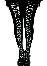 Skeleton Cross Bone Stitch Tights Goth Punk Halloween Cosplay Alternative Grunge