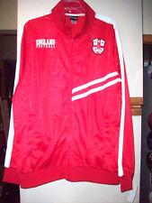 NEW Men's England Soccer Futbol Track Warm Up Jacket Red Size XL