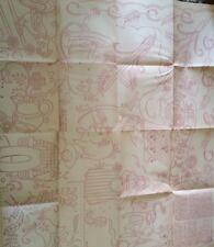 Vintage Embroidery Iron on Transfer Farm Tea Towel Motifs Uncut