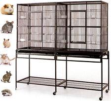 "64"" Large Double Ferret Glider Rat Mice Chinchilla Squirrel Gerbil Degu Cage"