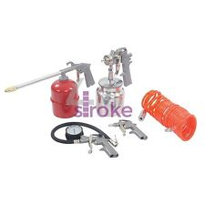 5Pce Air Tools & Compressor Accessories Complete Kit For Spray Inflate & Clean