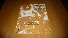 BOB MARLEY WAITING IN VAIN ORIGINAL 1977 UK  SHEET MUSIC