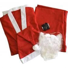 Economy Santa Suit Costume Adult Pants Jacket Beard Hat Belt Winter Christmas