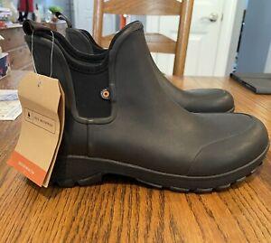 "BOGS 72208 Men's Sauvie Slip On 5"" Waterproof Work Boots Shoes 8 Men 10 Women 41"