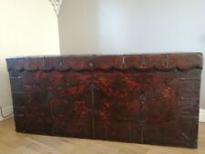 More details for large 18th century painted tibetan thangka chest